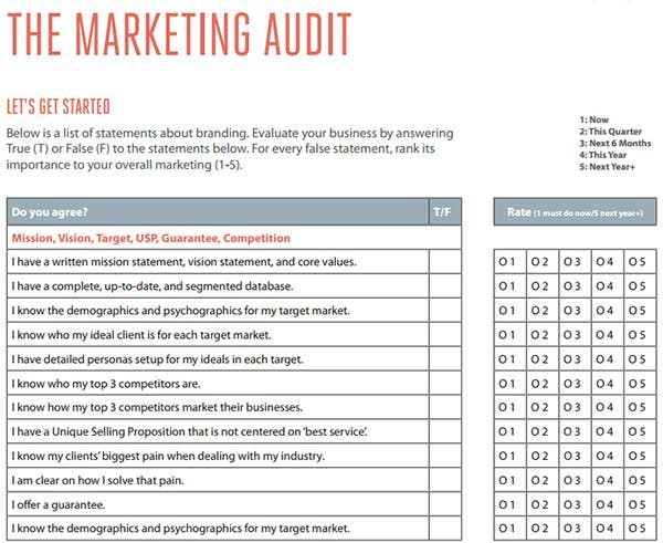 The Marketing Audit Strategy  Audit Template Word