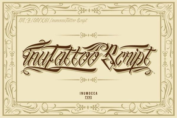 In This Template The User Can Get A Very Interesting Style Of Writing Font Type Make Any Tattoo Look And Unique