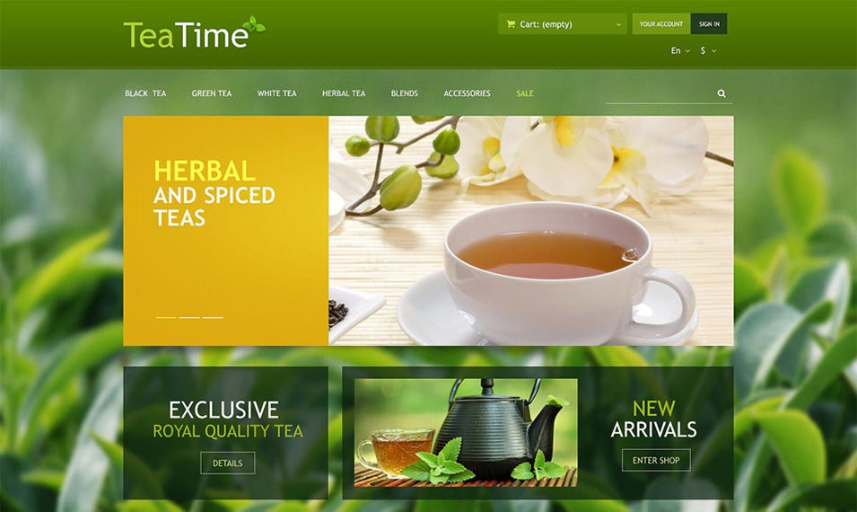 tea shop responsive prestashop theme