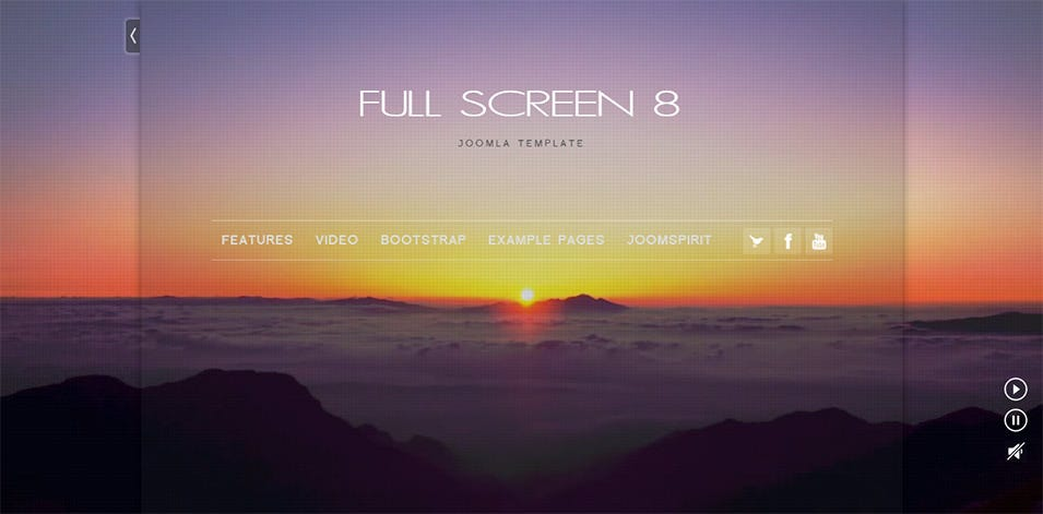 Full screen Joomla Responsive Template