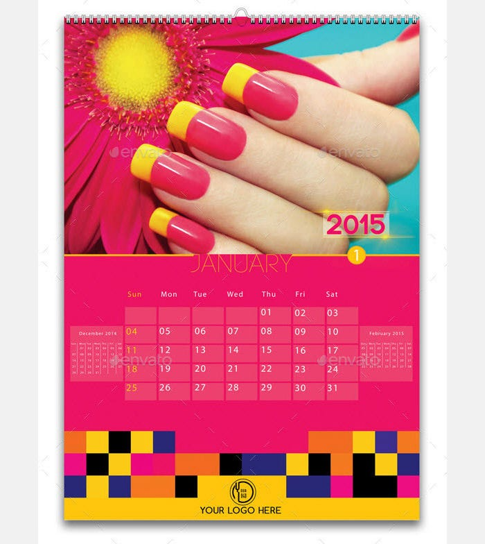 Calendar Sample Design Calendar Design Example  Table And
