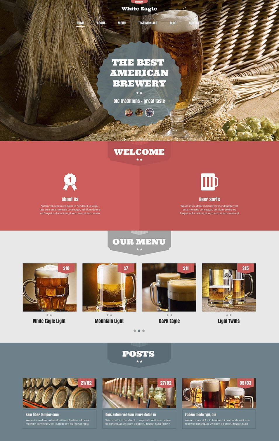 the best american brewery wordpress theme