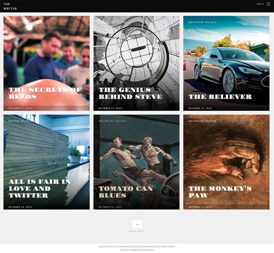 Premium WordPress Blogging Theme