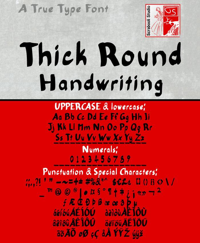 thick round handwriting font