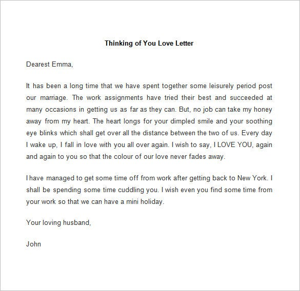 52 Love Letter Templates Free Sample Example Format