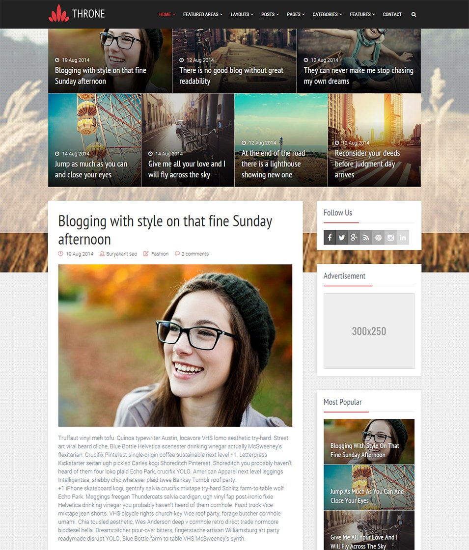 throne responsive blogger template