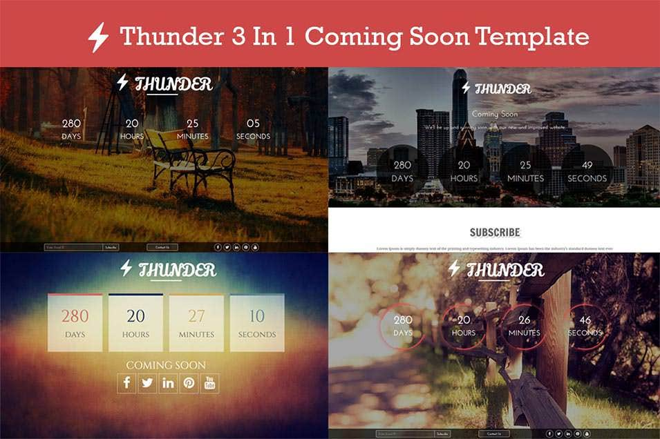 thunder 3 in 1 coming soon templates