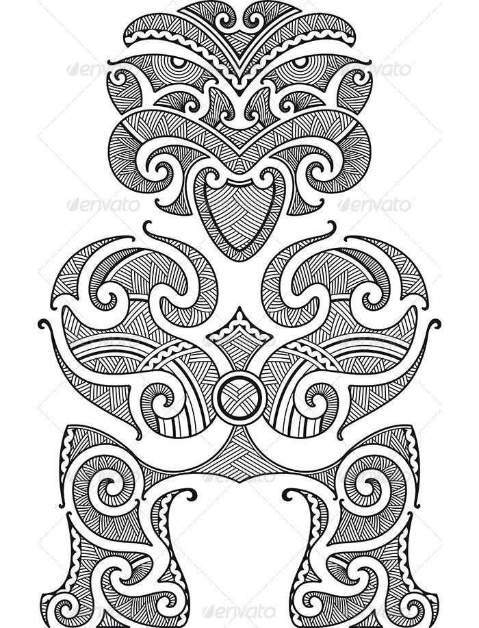 tiki tattoo design