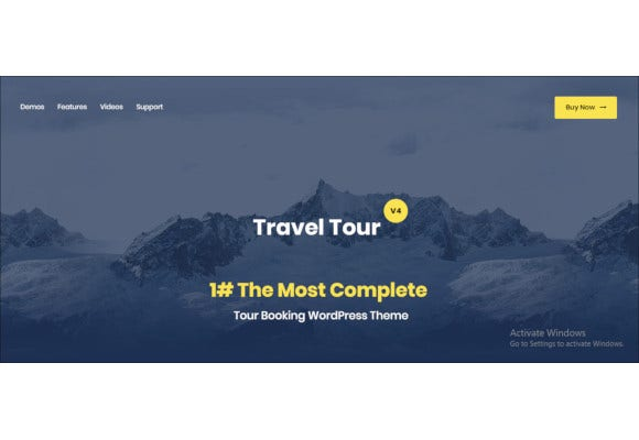 tour booking travel wordpress theme