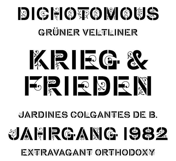 typeface stencil gothic