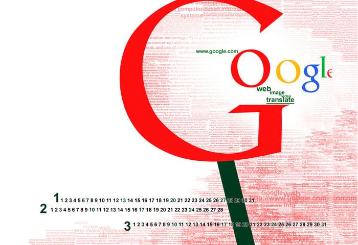 typography calendar google