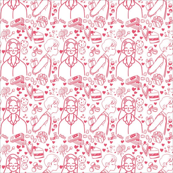 valentine day couple pattern