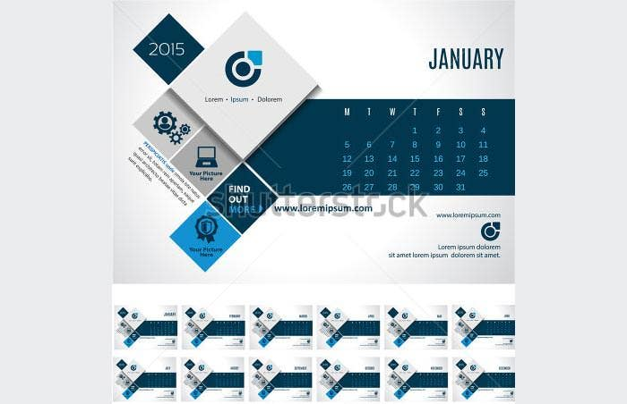 24 best business calendar templates 2015  u0026 samples