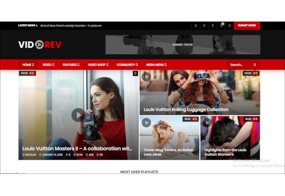 28+ Video Blog WordPress Themes & Templates | Free & Premium
