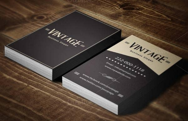 20+ Best Vintage Style Business Cards | Free & Premium Templates