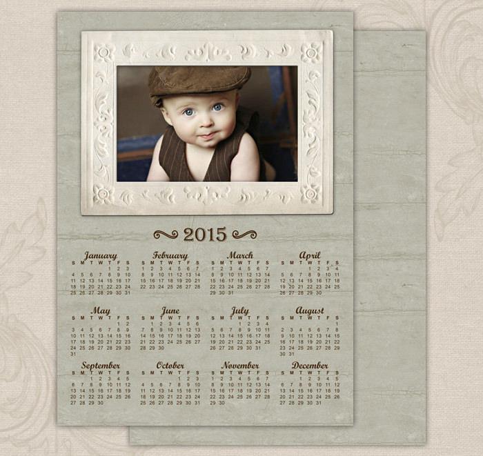 vintage frame 2015 calendar template