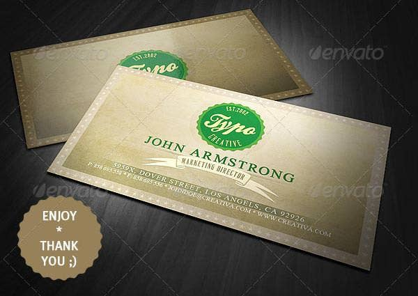 21 best vintage style business cards free premium templates sample vintage style business card colourmoves