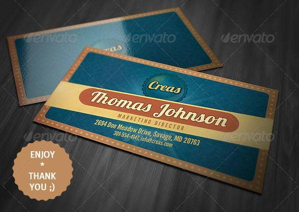 21 best vintage style business cards free premium templates vintage style business card 4 reheart Images