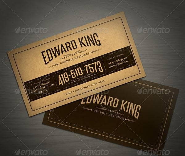 21 best vintage style business cards free premium templates vintage style business card template wajeb Images