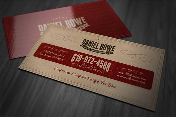 20 Best Vintage Style Business Cards