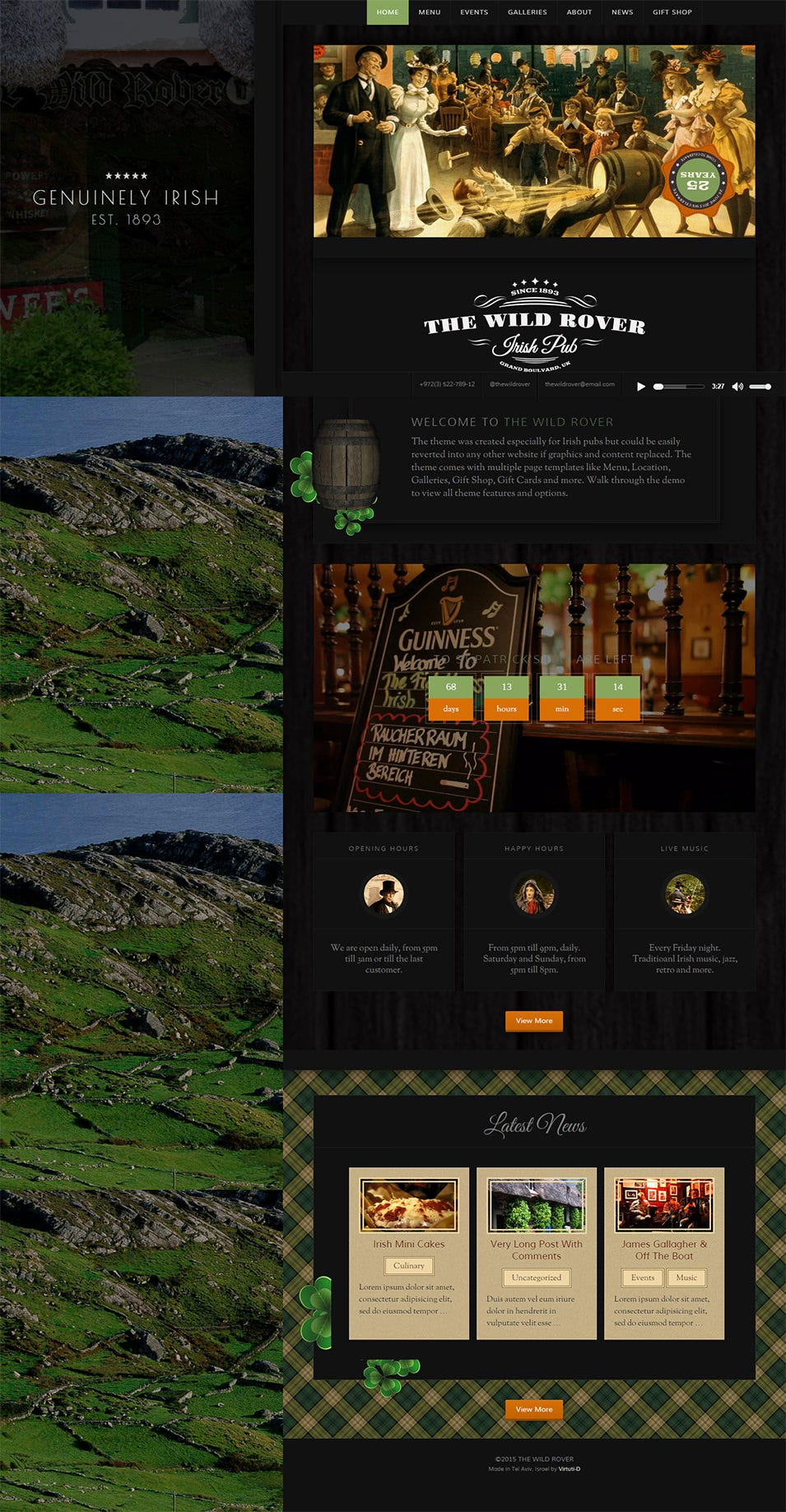WP Theme For Irish Pubs