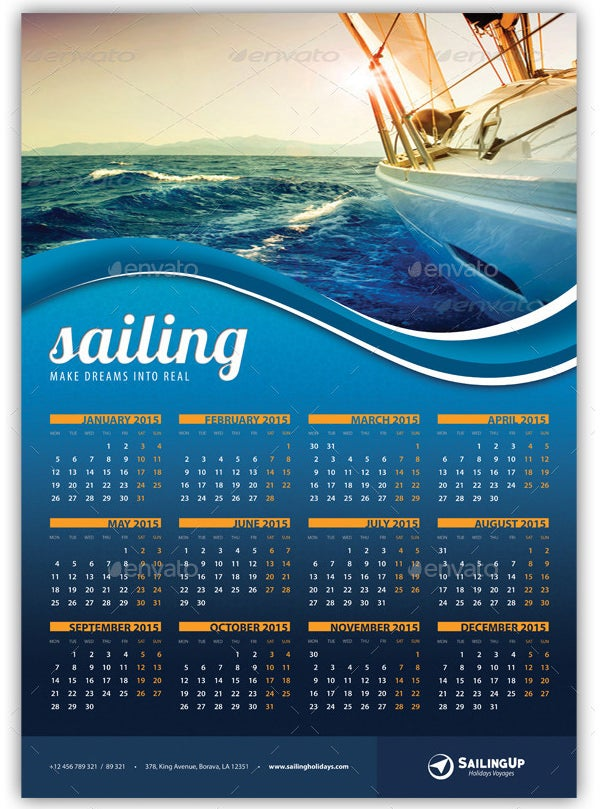 22  best 2016 calendar templates to print