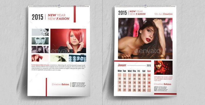 wall desk calendar bundle v01