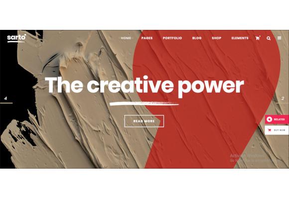 web design creative agency theme