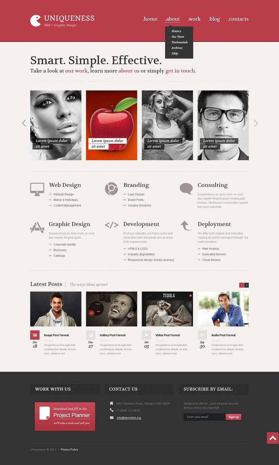 Web Design Minimalism WordPress Theme