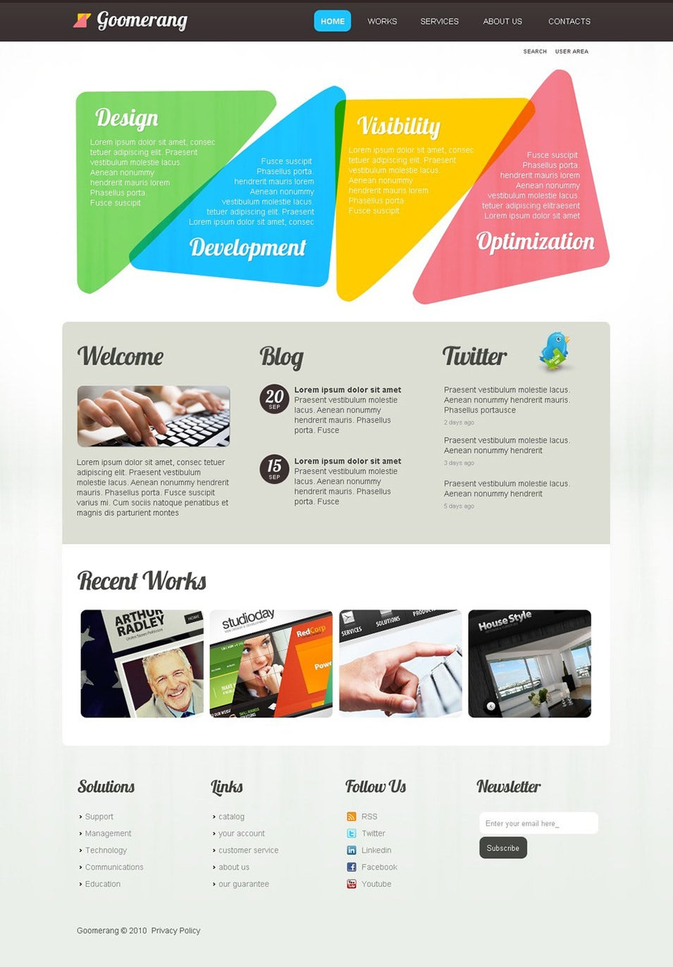 Best Web Design WordPress Templates Themes Free Premium - Website templates wordpress