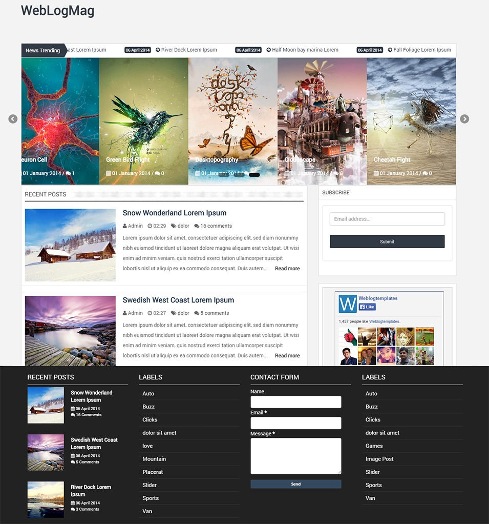 pro photo blog templates - 40 professional blog themes templates free premium