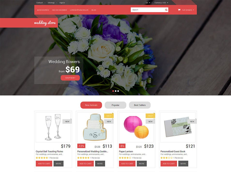 wedding day essentials prestashop theme