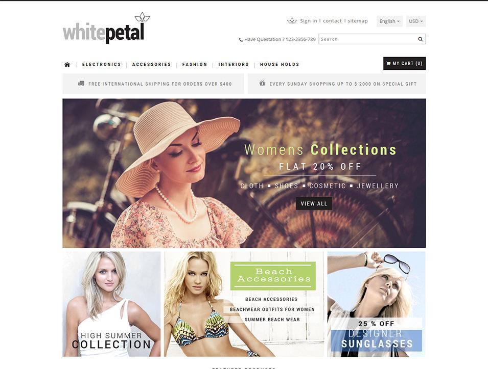 whitepetal prestashop responsive theme