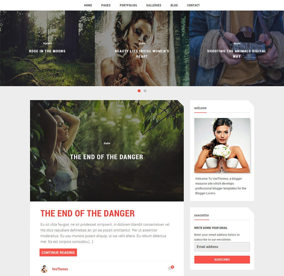 wilder blogger template