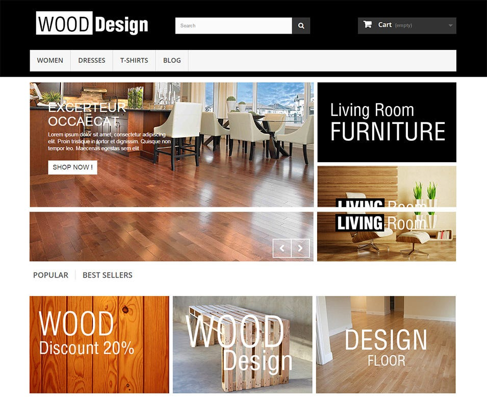 wood free prestashop themes