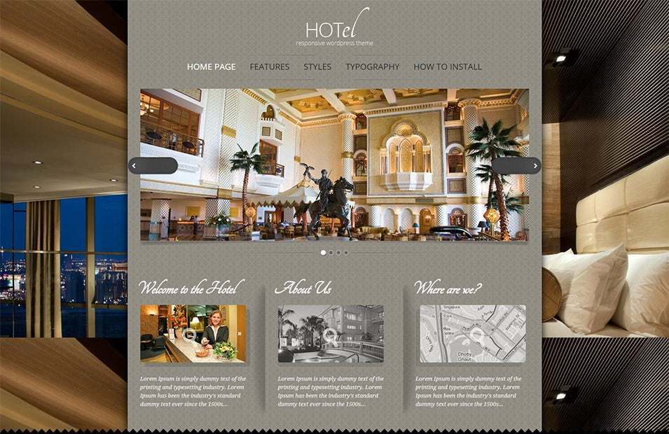 WordPress Hotel theme will