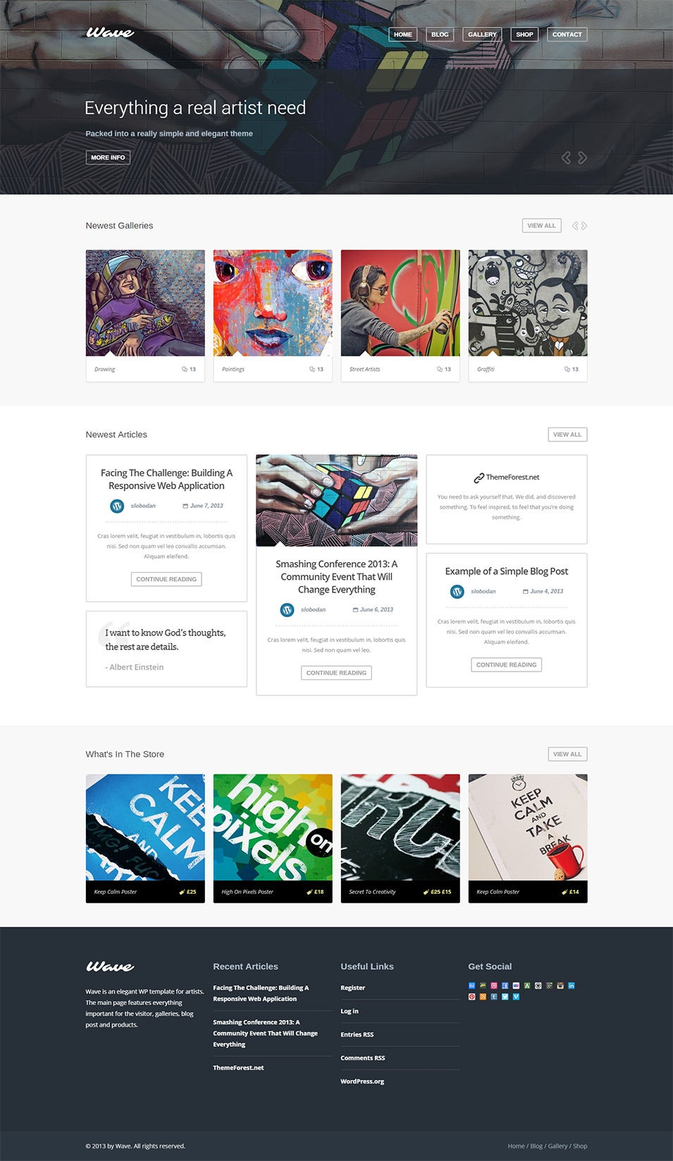 WordPress Theme for Artists