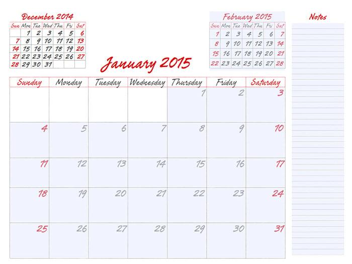 25 Best Editable Calendar Templates 2015 Designs Free Premium