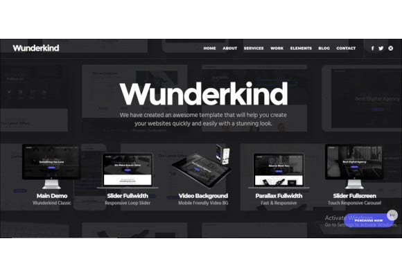 wunderkind one page parallax theme