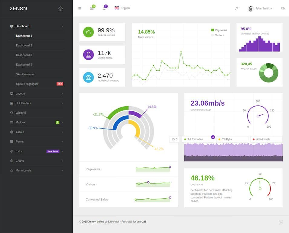 xenon bootstrap admin theme with angularjs