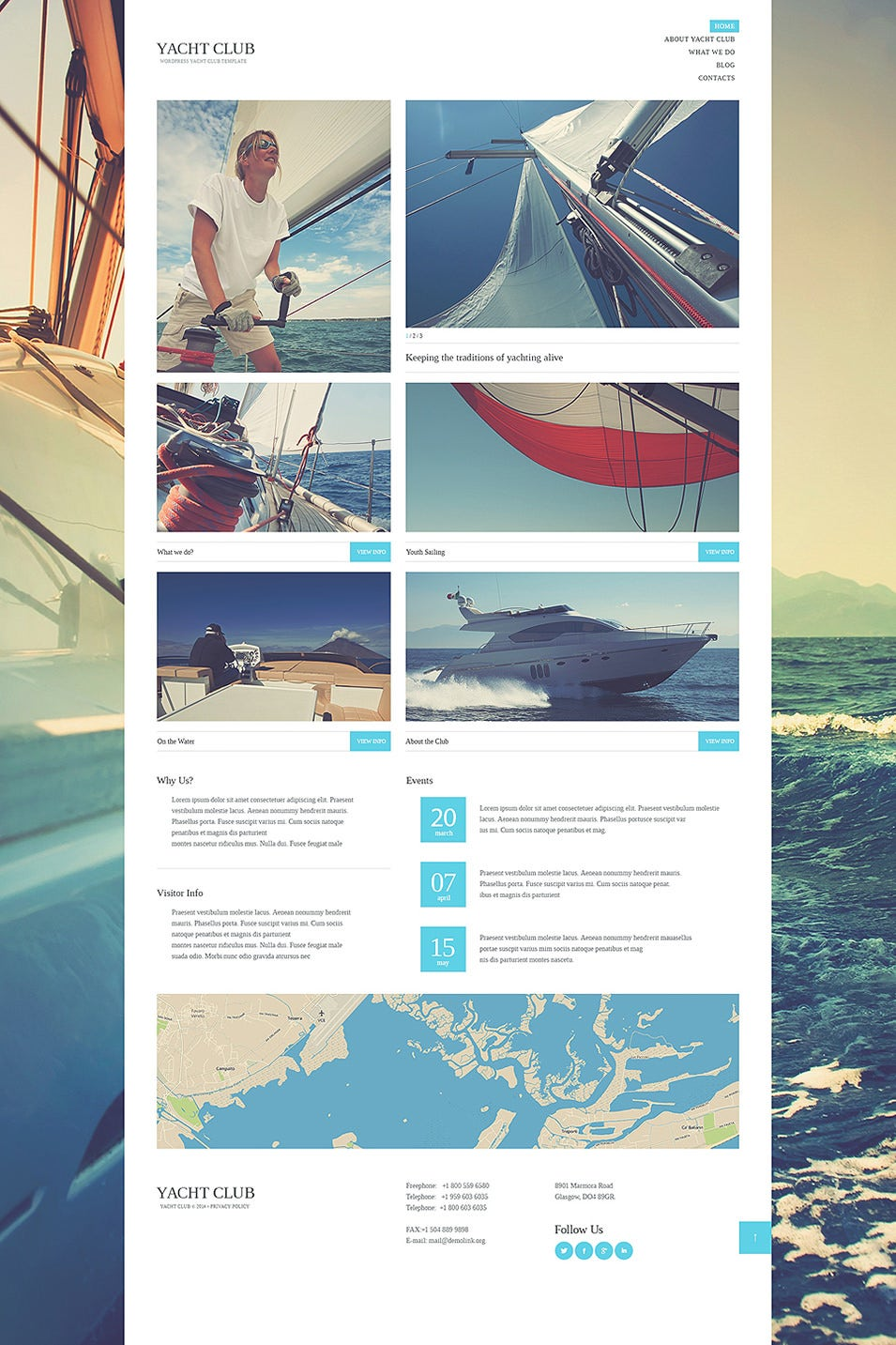 Yacht Club WordPress Theme