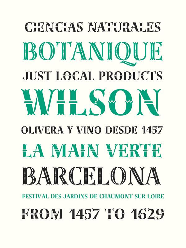 a stencil typeface