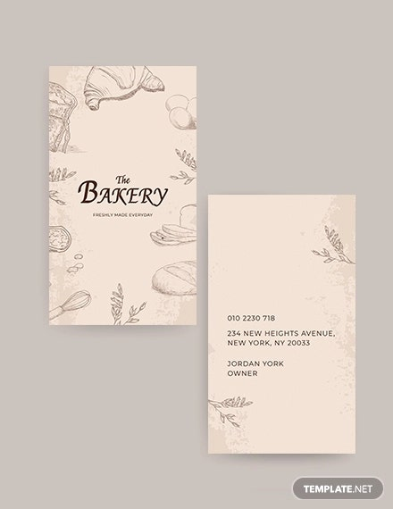 bakery shop business card