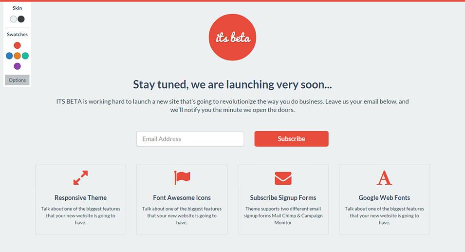 beta landing page