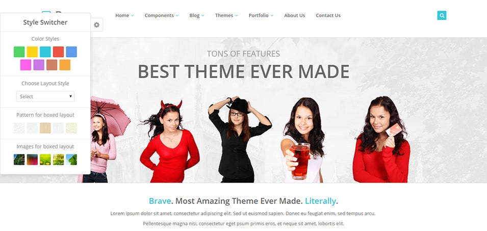 brave responsive theme
