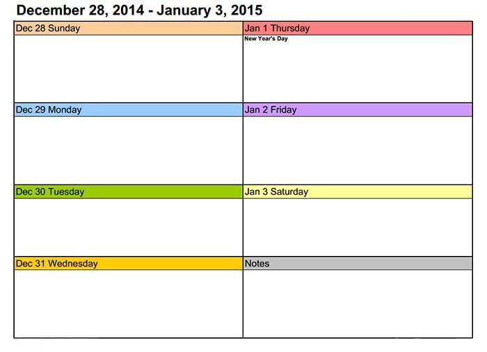 15+ Best Training Calendar Templates 2015 & Designs   Free & Premium ...