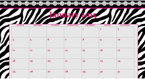 calendar template2015