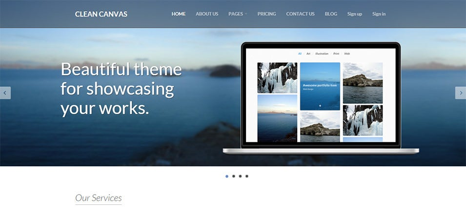 51 business bootstrap themes templates free premium templates clean canvas business service bootstrap theme 12 flashek Images