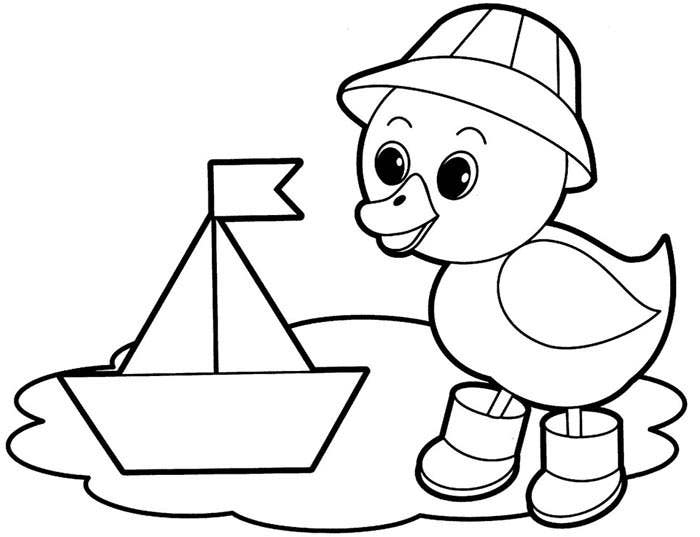 duck animal shape template - Printable Coloring Pages Of Animals