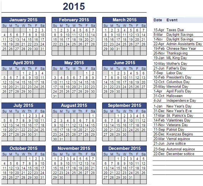 google calendar templates 2015